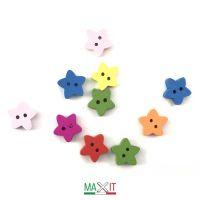 10 BOTTONI IN LEGNO DIAMETRO CM 2,5-Stars