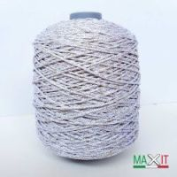 """Yarn """"Style Lurex 500"""" color WHITE/GOLD"""