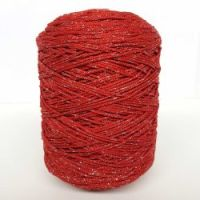 """Yarn """"Style Lurex 500"""" color RED/SILVER"""