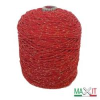 """Yarn """"Style Lurex 500"""" color RED/GOLD"""