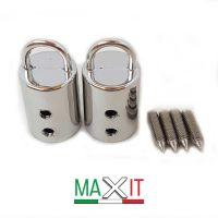 mod 47 Attacco Manici cilindri- ARGENTO (2 pezzi)