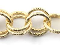 065catena argento 2 anelli  oro- prezzo al metro