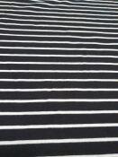 5101 jersey rigato nero/bianco 140x200