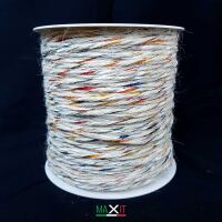 White Jute Mix Yarn-Multicolor
