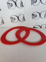 coppia manici ovali cm 18 rosso