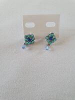 orecchini quadro azzurri