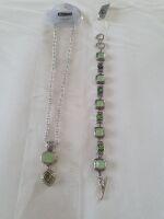013collana e bracciale pietra verde