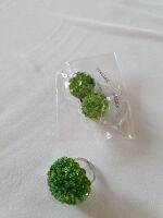 anello+orecchini verde