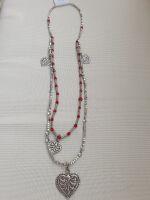 028 collana perle rosse cuore
