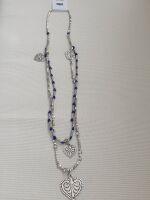 028 collana perle blu cuore