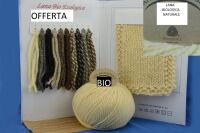 1 gomitolo lana BIO panna 100 GR