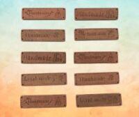 Etichette artigianali in legno HANDMADE cf 10